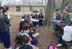 7th graders at Locke explored their neighborhood while learning about Lewis and Clark's expedition